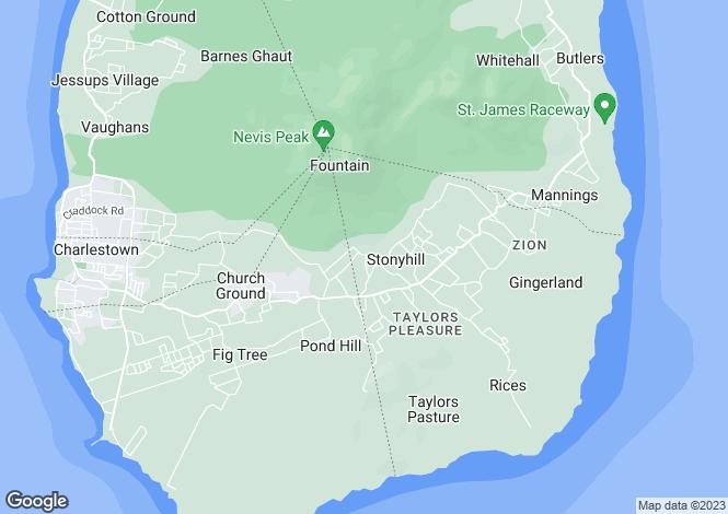 Map for Dunbar Mill, Zetlands Estate, Nevis