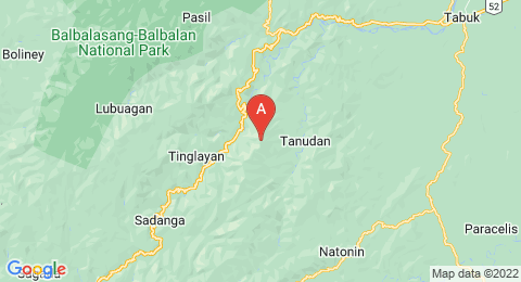 map of Sleeping Beauty Mountain (Philippines)