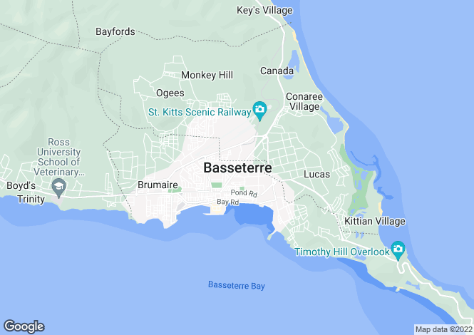Map for Christophe Harbour, Basseterre, St Kitts