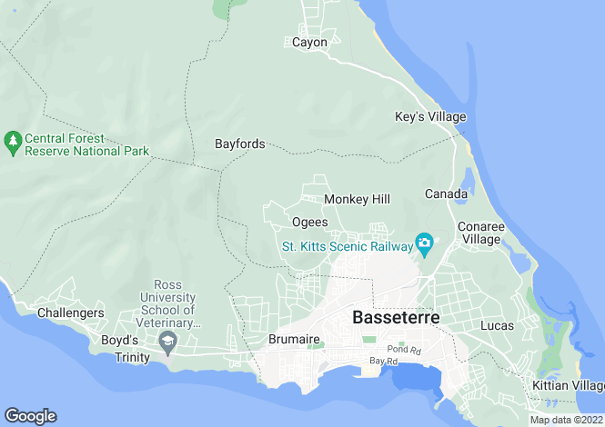 Map for Basseterre