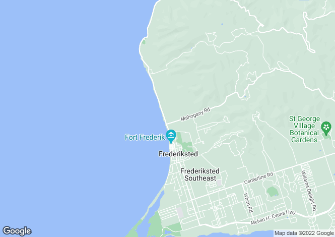 Map for Frederiksted, St Croix