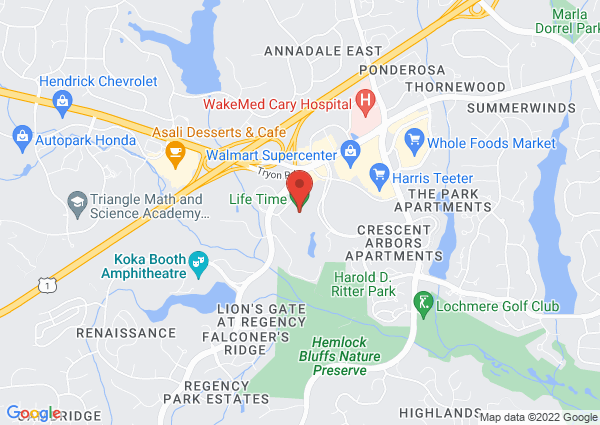 Map of 1700 Regency Parkway, Cary, NC, USA