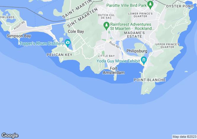 Map for Villa Joy - St.Maarten, St.Maarten