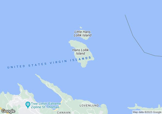 Map for PRIVATE ISLAND Hans Lollick Island - USVI, USVI