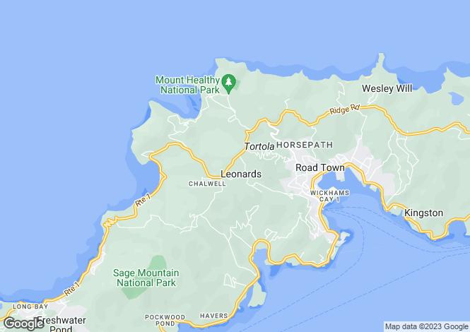 Map for Tortola