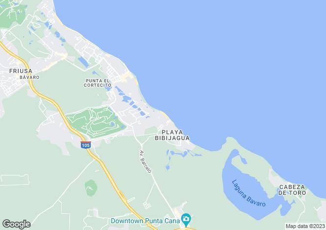 Map for Punta Cana, La Altagracia