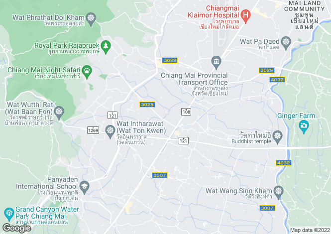 Map for Chiang Mai