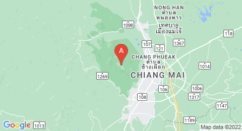 map of Doi Suthep (Thailand)