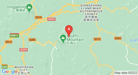 map of Wuzhi Mountain (China)