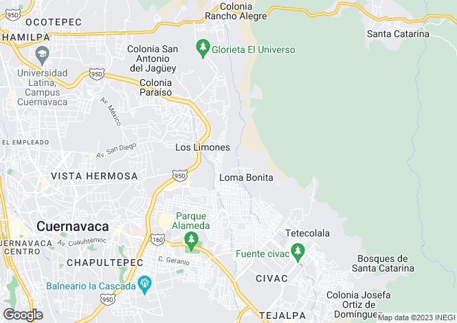 Map for Cuernavaca, Morelos