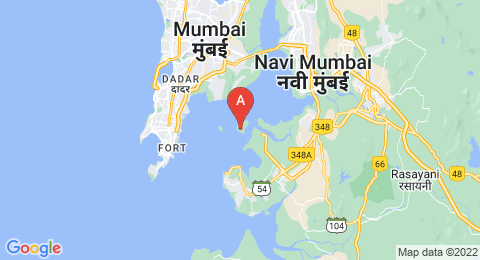 map of Elephanta Caves (India)