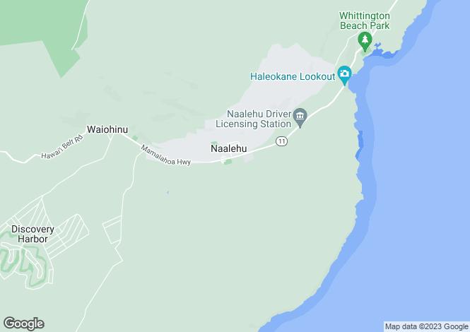 Map for Hawaii, Hawaii County, Na`alehu