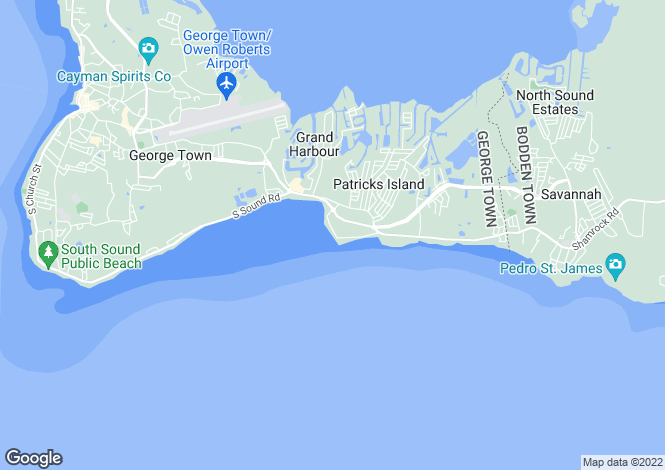 Map for Grand Cayman, Spotts