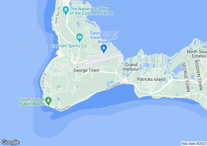 Map for Grand Cayman, Prospect