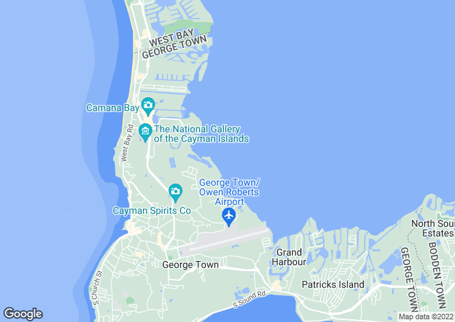 Map for Grand Cayman, George Town