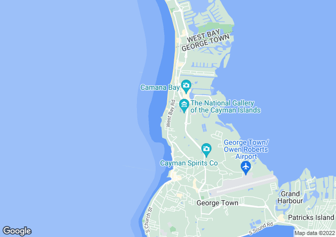 Map for Northside, Grand Cayman