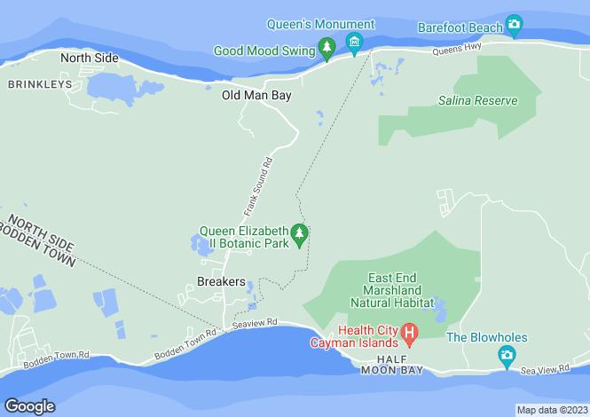 Map for Ironwood Golf Resort Villa, Frank Sound, Grand Cayman