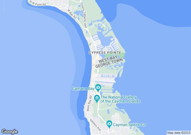 Map for Luxury Condo Hotel, Cayman Islands, Cayman Islands