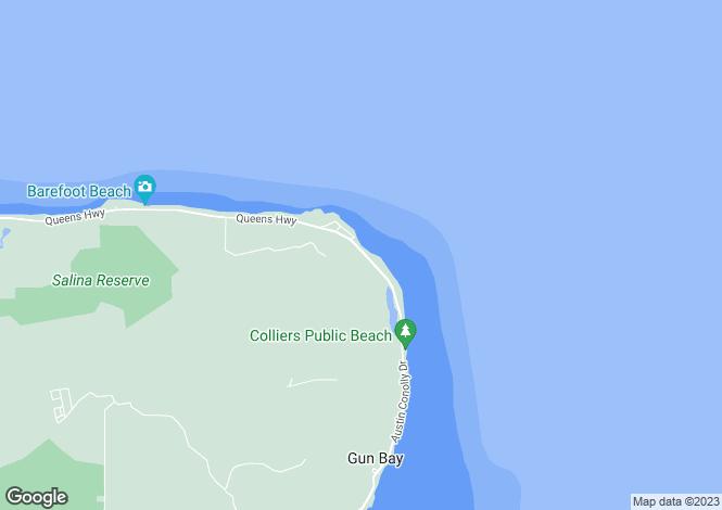 Map for Unique 530 Acres Developement Site, East End, Grand Cayman