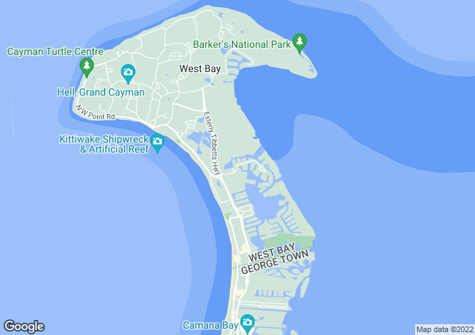 Map for Grand Cayman