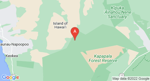 map of Mauna Loa (United States of America)