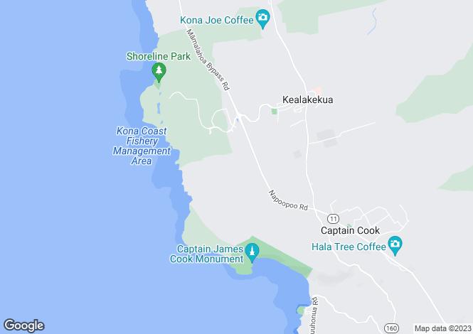 Map for Hawaii, Hawaii County, Captain Cook