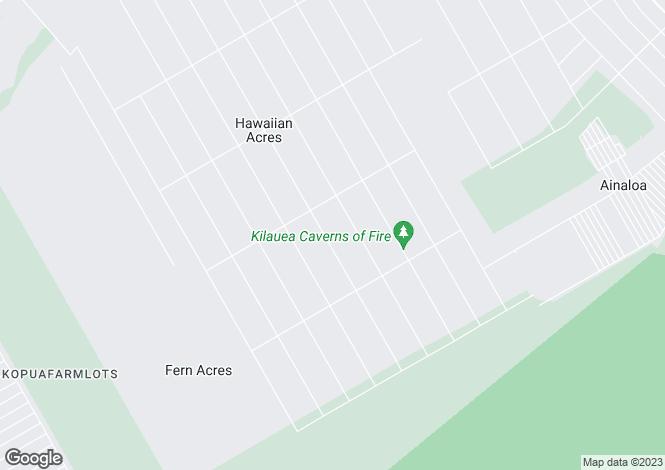 Map for Hawaii, Hawaii County, Mountain View