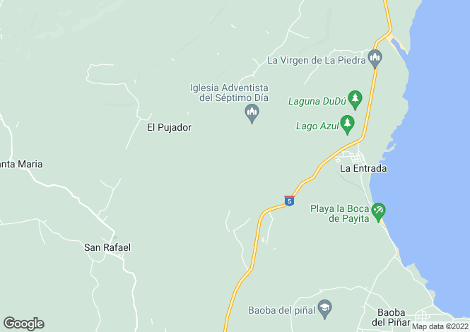 Map for Villa Loma Bonita, Las Terrenas, Samana Peninsula