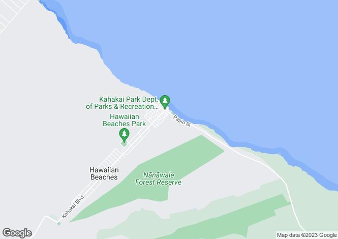 Map for Hawaii, Hawaii County, Pahoa