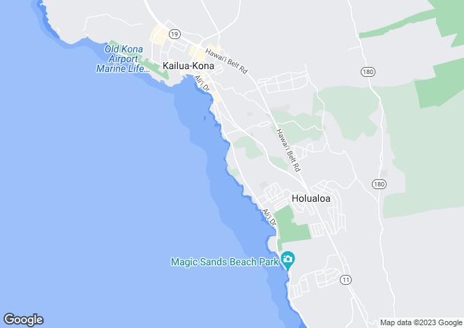 Map for Hawaii, Hawaii County, Kailua-Kona