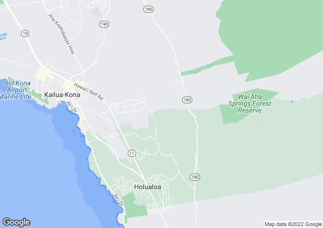 Map for Hawaii, Hawaii County, Kailua-Kona
