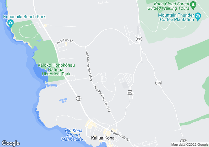 Map for USA - Hawaii, Hawaii County, Kailua-Kona