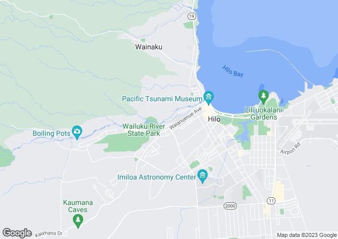 Map for Hawaii, Hawaii County, Hilo