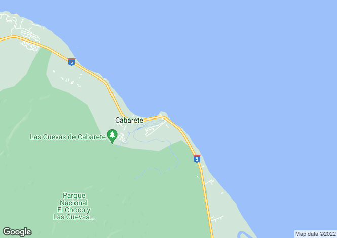 Map for Cabarete, Puerto Plata