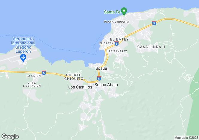 Map for Sosúa, Puerto Plata