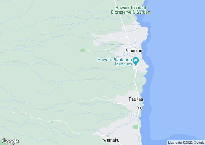 Map for Hawaii, Hawaii County, Papa`ikou