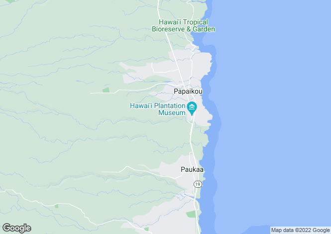 Map for Hawaii, Hawaii County, Papa`ikou
