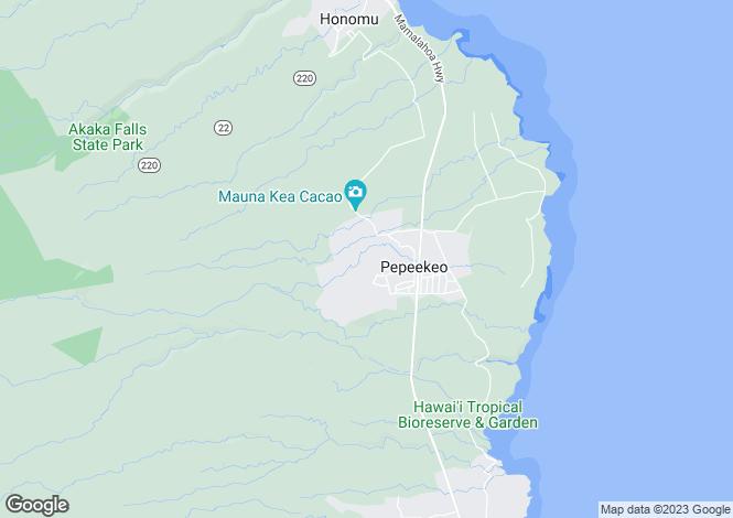 Map for Hawaii, Hawaii County, Pepe`ekeo