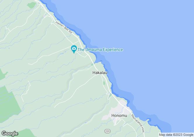 Map for Hawaii, Hawaii County, Hakalau