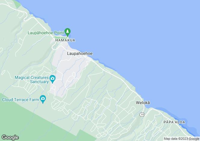 Map for Hawaii, Hawaii County, Papa`aloa