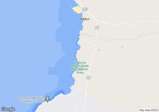Map for Hawaii