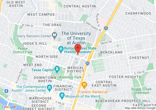 Map of 1900 Red River St, Austin, TX 78712, United States