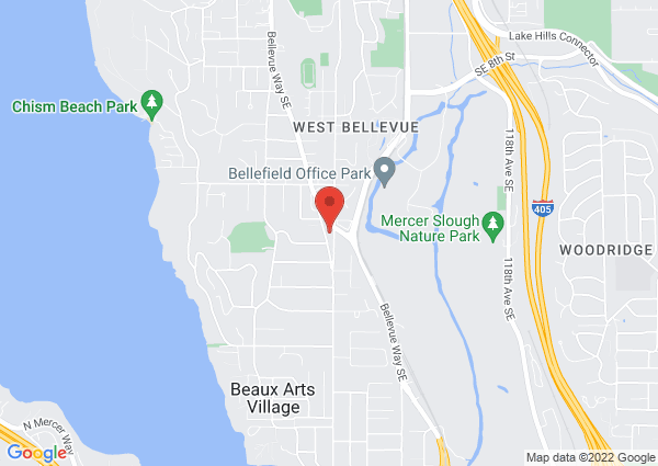 Map of 1919 108th Ave SE, Bellevue, WA 98004, USA