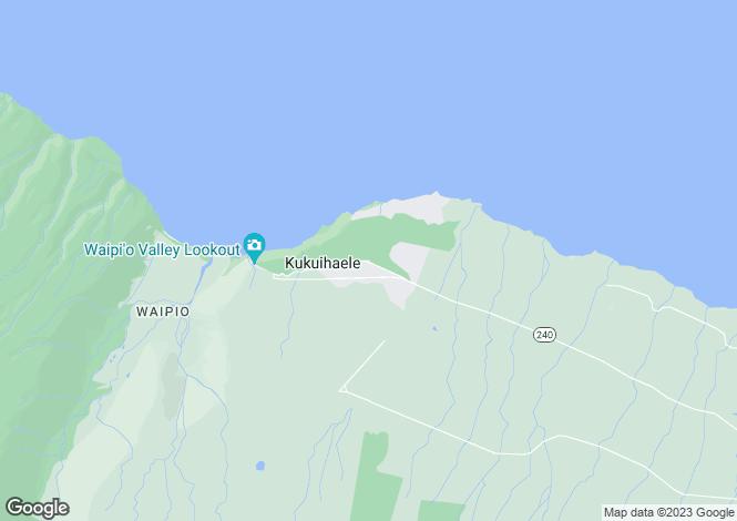 Map for Hawaii, Hawaii County, Honoka`a
