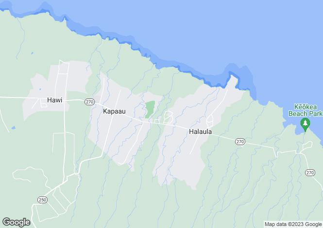 Map for Hawaii, Hawaii County, Kapa`au