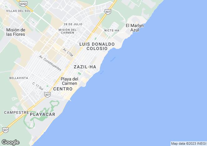 Map for Playa del Carmen, Quintana Roo