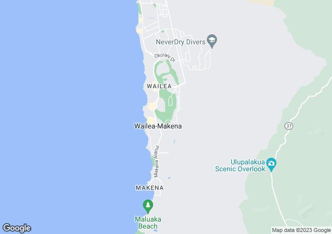 Map for Hawaii, Maui County, Kihei