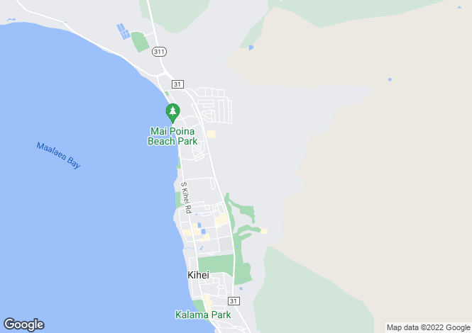 Map for Hawaii, Maui County, Kihei