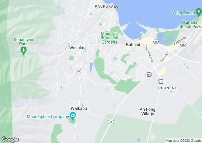 Map for USA - Hawaii, Maui County, Kahului