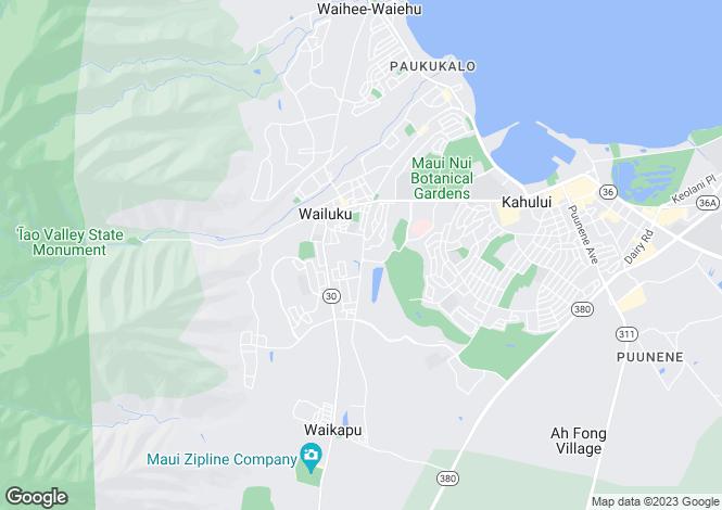 Map for USA - Hawaii, Maui County, Wailuku